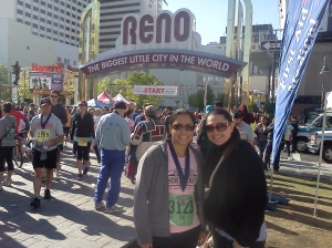 My brother's girlfriend V.F. and I after my first official 5k in Reno
