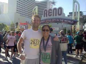 My friend J.W. who ran the 10k that same day. We finished almost at the same time even though his race was longer.