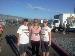 With S.L. and B.S. before the race