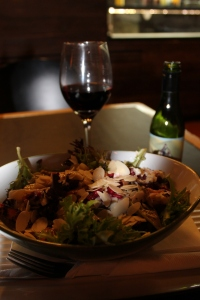 Salad and wine at Grill'd