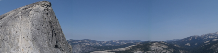 Panoramic view of Half-Dome from top of Sub Dome