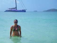 Clear waters of Whitehaven Beach