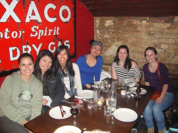 My tour mates at Winnie's Pizza