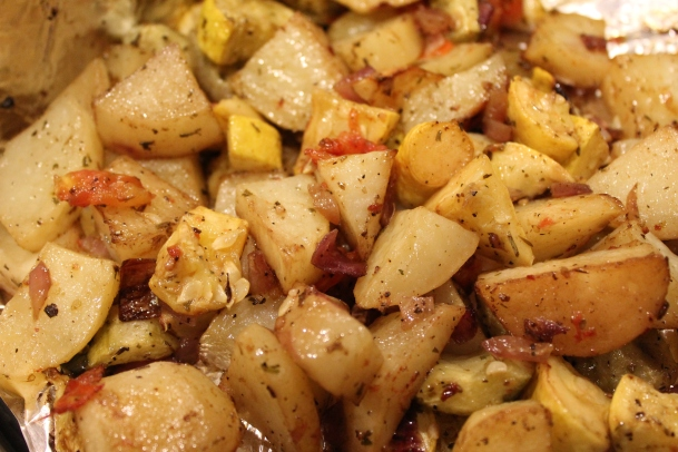 Roasted Potatoes and Vegetables