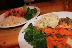 Salmon and Ahi Tuna