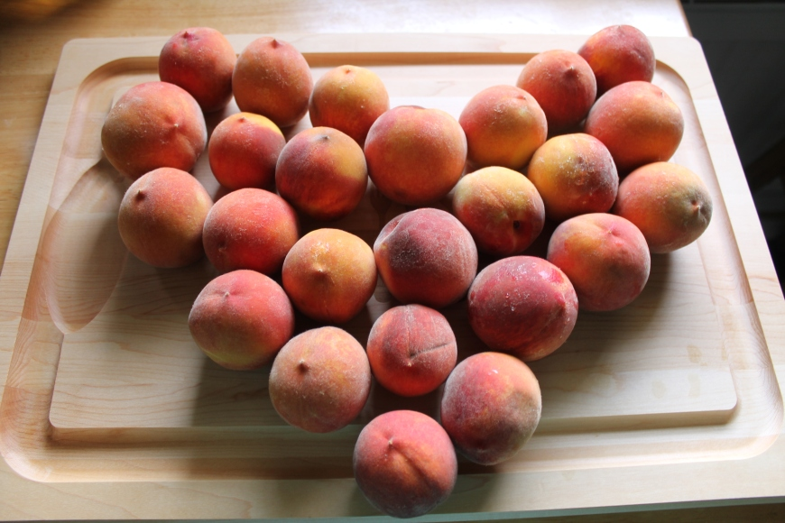 I love peaches!