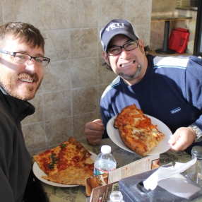 D. and J. - Eating pizza in New Jersey