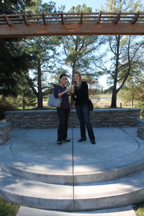 V. and I looking at wedding venues in Napa