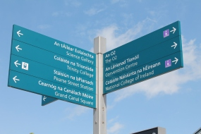 Street Signs in Irish and English