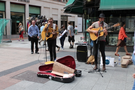 Street Performers on Grafton St.