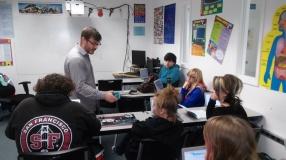 D. teaching