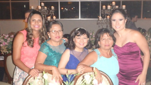 With aunts and cousins