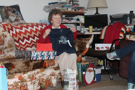 Christmas Day - Opening gifts